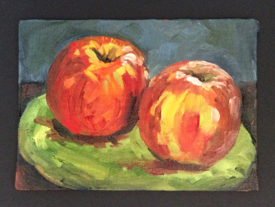 #1 Apple – Daily Painting 🎨